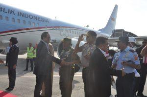 Panglima Kosekhanudnas III Sambut Transit RI-2 di Bandara Kualanamu
