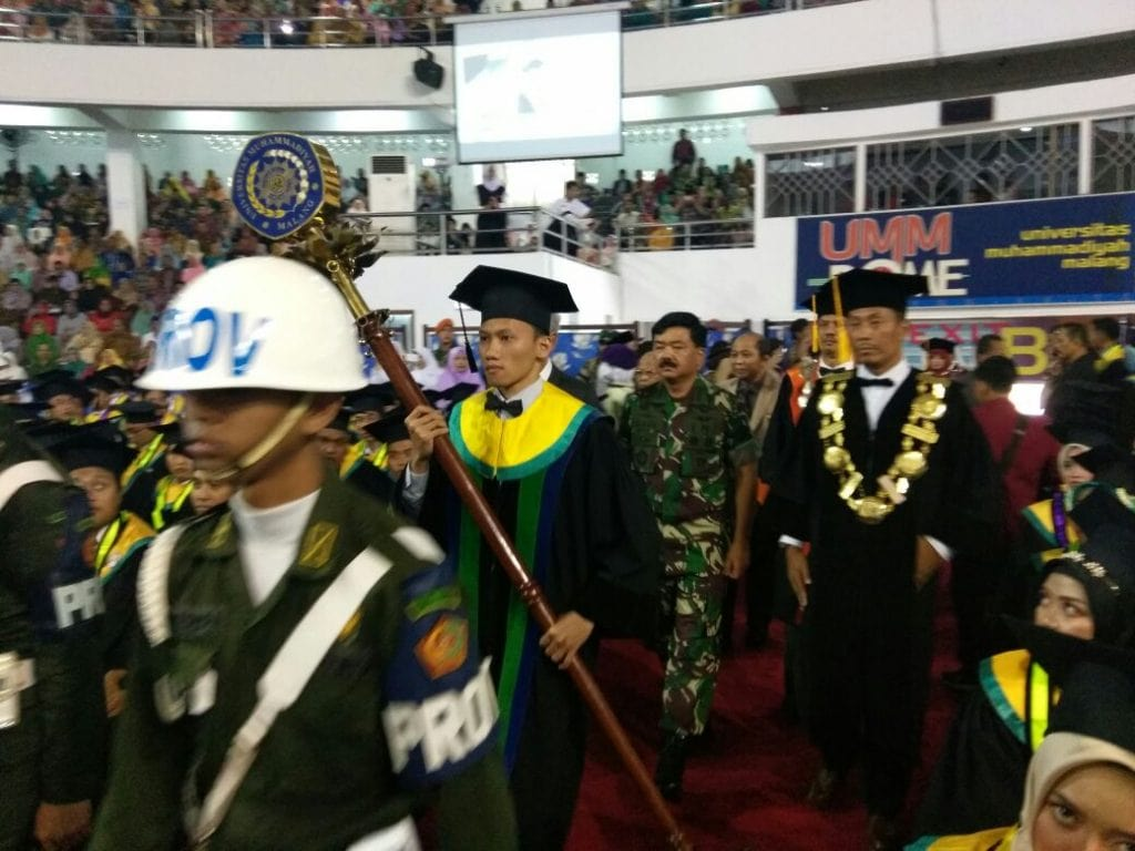 Danlanud Abd Hadiri Pengukuhan Panglima TNI Warga Kehormatan UMM