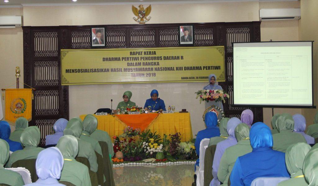 Ketua PIA AG Lanud Sim Hadiri Raker Dharma Pertiwi