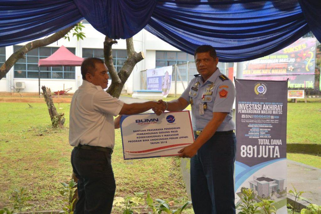 Paud Kosekhanudnas II Terima Bantuan Pendidikan Dari Matsc