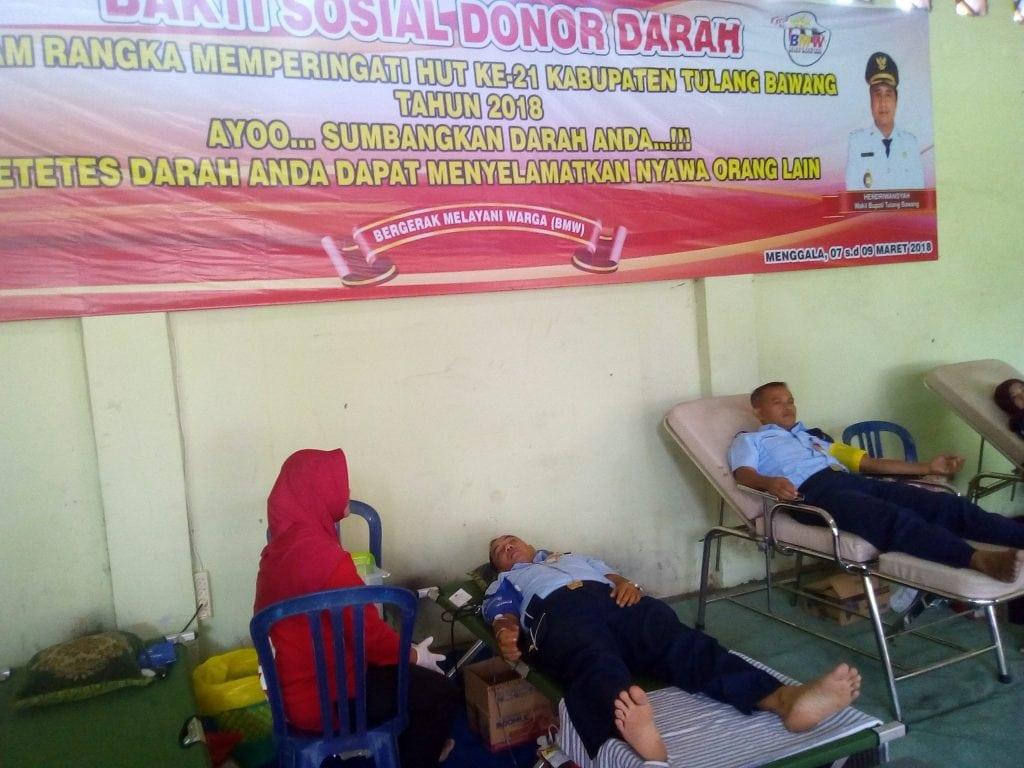 Anggota Lanud BNY Salurkan Darahnya