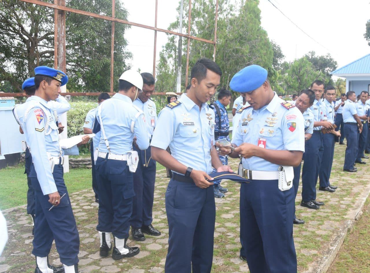 Satpom Lanud HLO gelar Gaktib Jelang HUT ke-72 TNI AU
