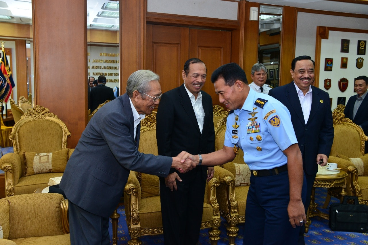 Kasau Terima Kunjungan Indonesia Aviation dan Aerospace Watch