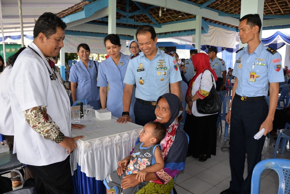 Bakti Sosial Terpadu Lanud Iswahjudi dan Pemkab Madiun dalam Rangka Memperingati HUT TNI AU ke-72