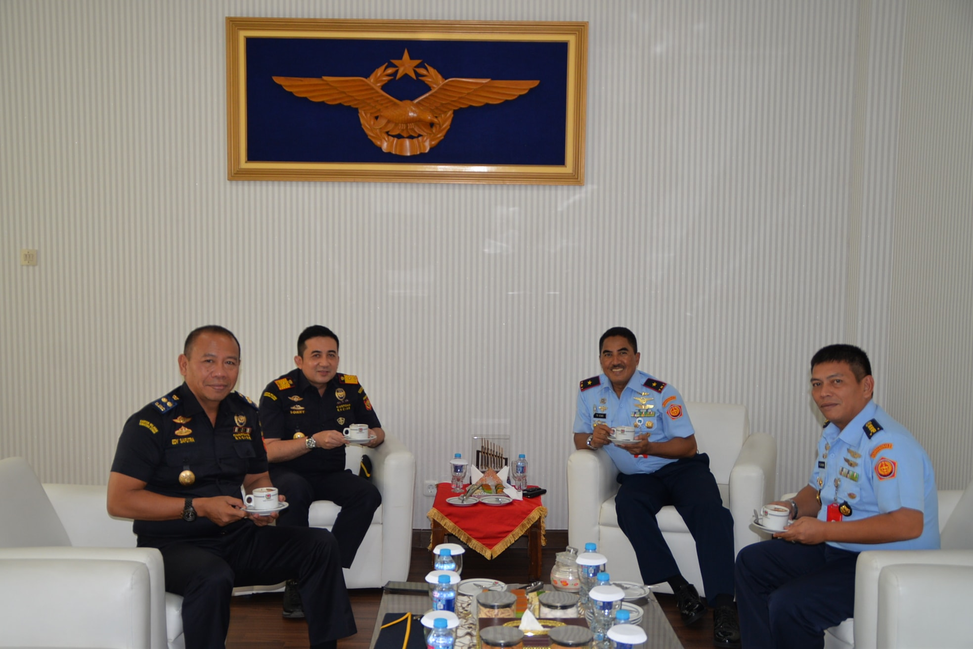 Panglima Kosekhanudnas III Terima Kunjungan Kepala Kantor Pelayanan dan Pengawasan Bea dan Cukai