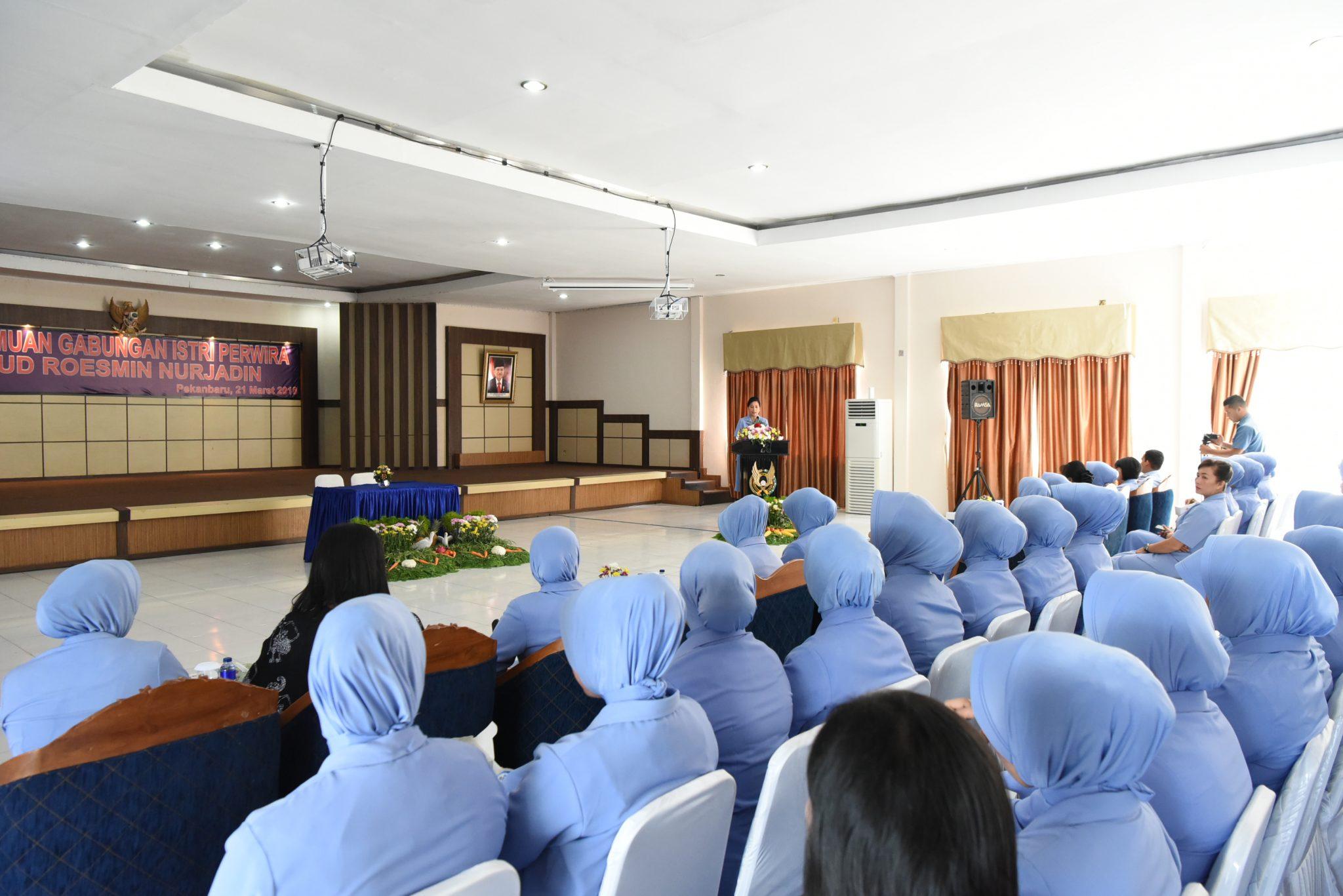PIA AG Lanud Rsn Adakan Pertemuan Gabungan Istri Perwira