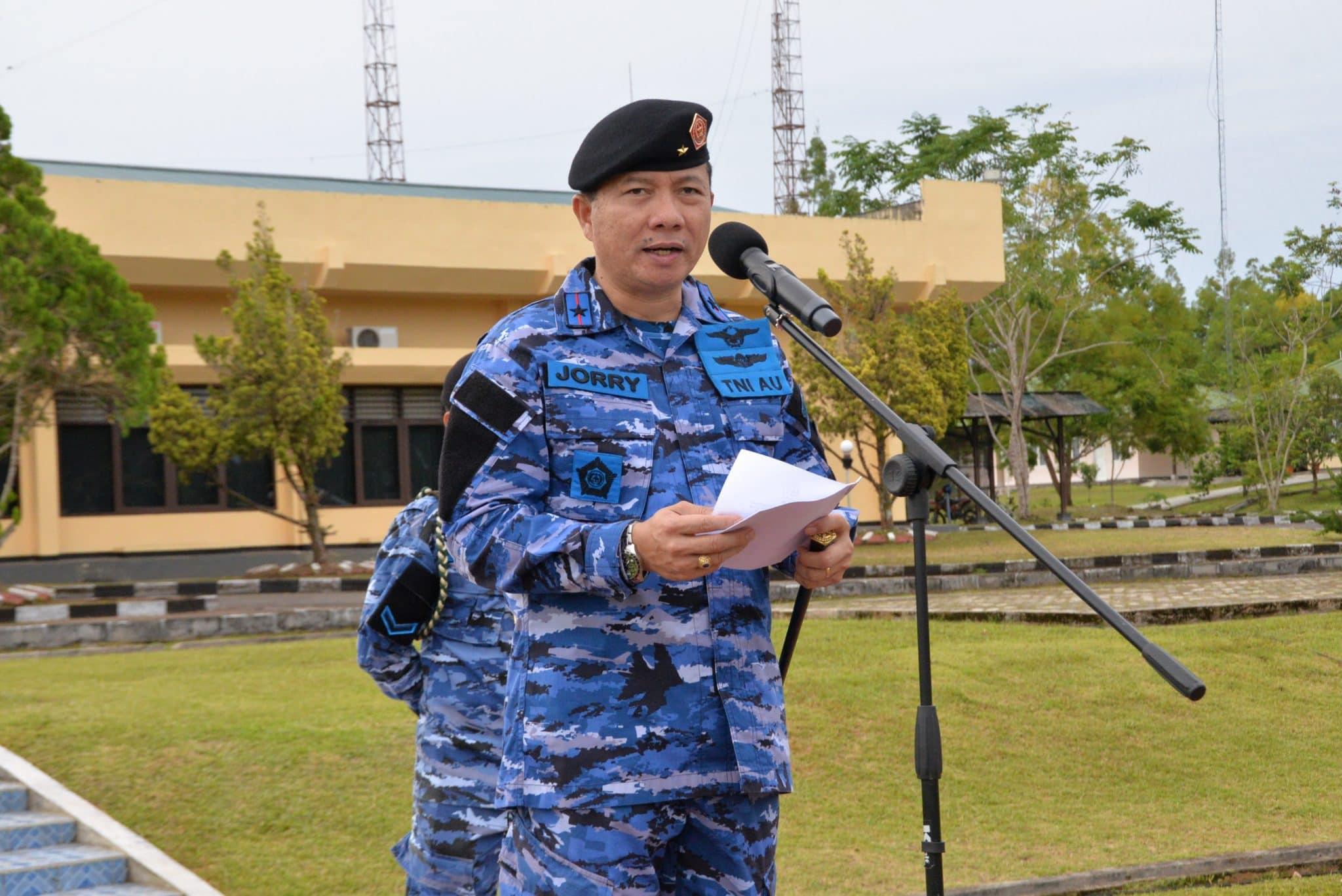 Upacara Bendera 17an Gabungan TNI AU Di Biak