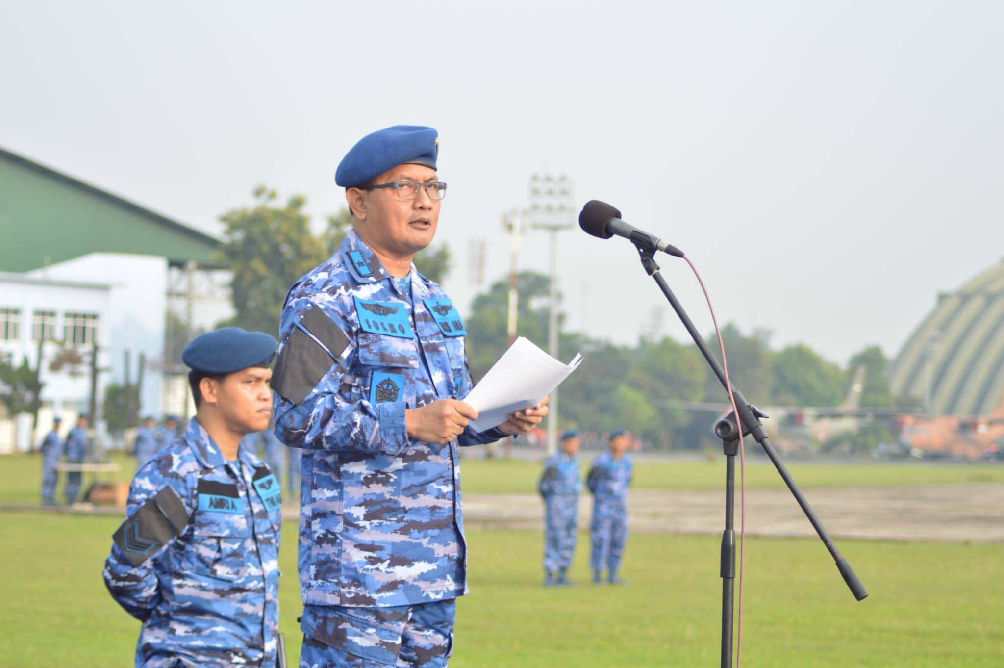 Kadispsiau Pimpin Upacara Bendera Tujuh Belasan Di Lanud Halim Perdanakusuma