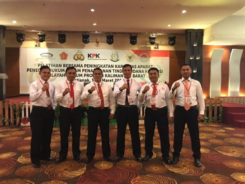 Personel Satpom Lanud Supadio Aktif pada Pelatihan Kapasitas Aparat Penegak Hukum di Kalbar