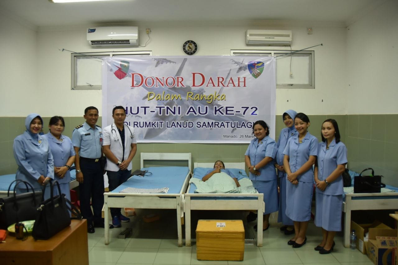 Donor Darah Di Lanud Sam Ratulangi