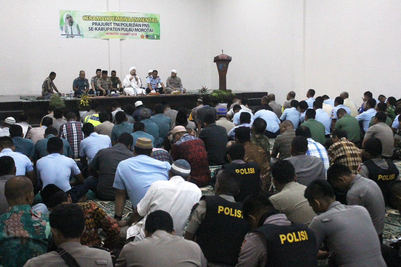 Lanud Lwm Tingkatkan Sinegritas TNI/Polri Dengan Ceramah Bintal Rohani