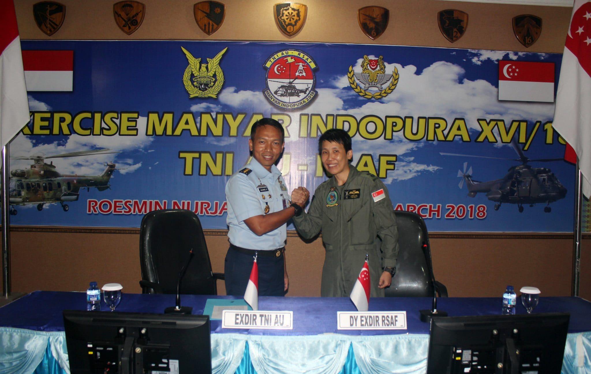 """TNI AU-RSAF Gelar Latihan """"Manyar Indopura XVI/18"""""""