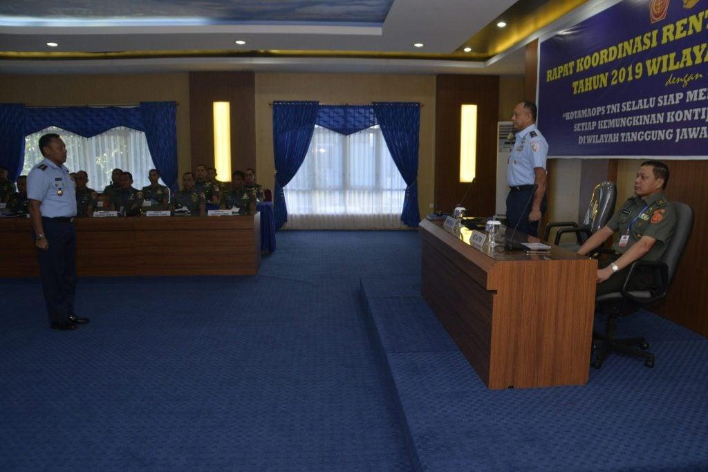 Rapat Koordinasi Rentikon Kotamaops TNI Tahun 2019  Wilayah Timur T.A 2018 Di Koopsau II