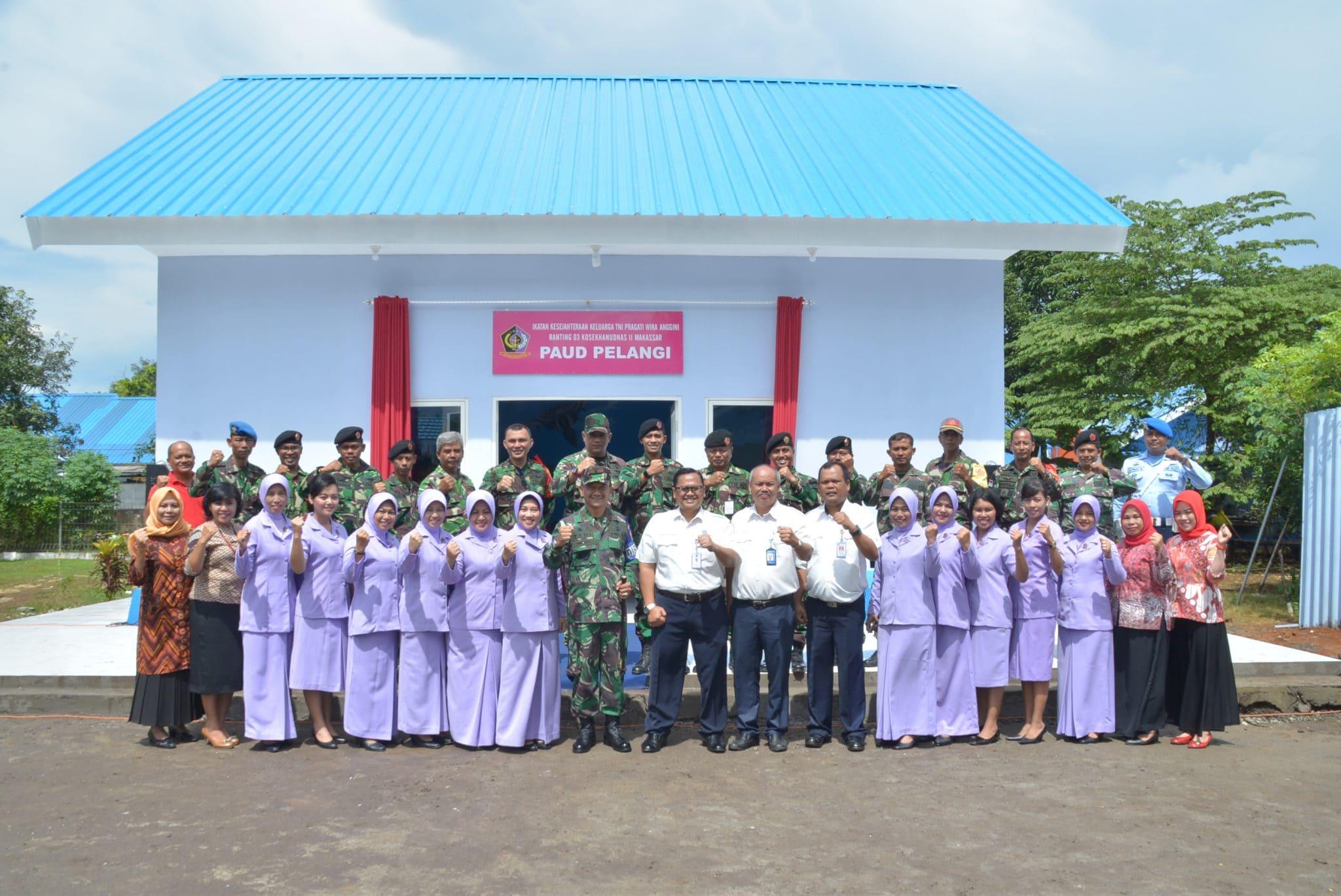 Peresmian Gedung PAUD Pelangi di Kosekhanudnas II Makassar