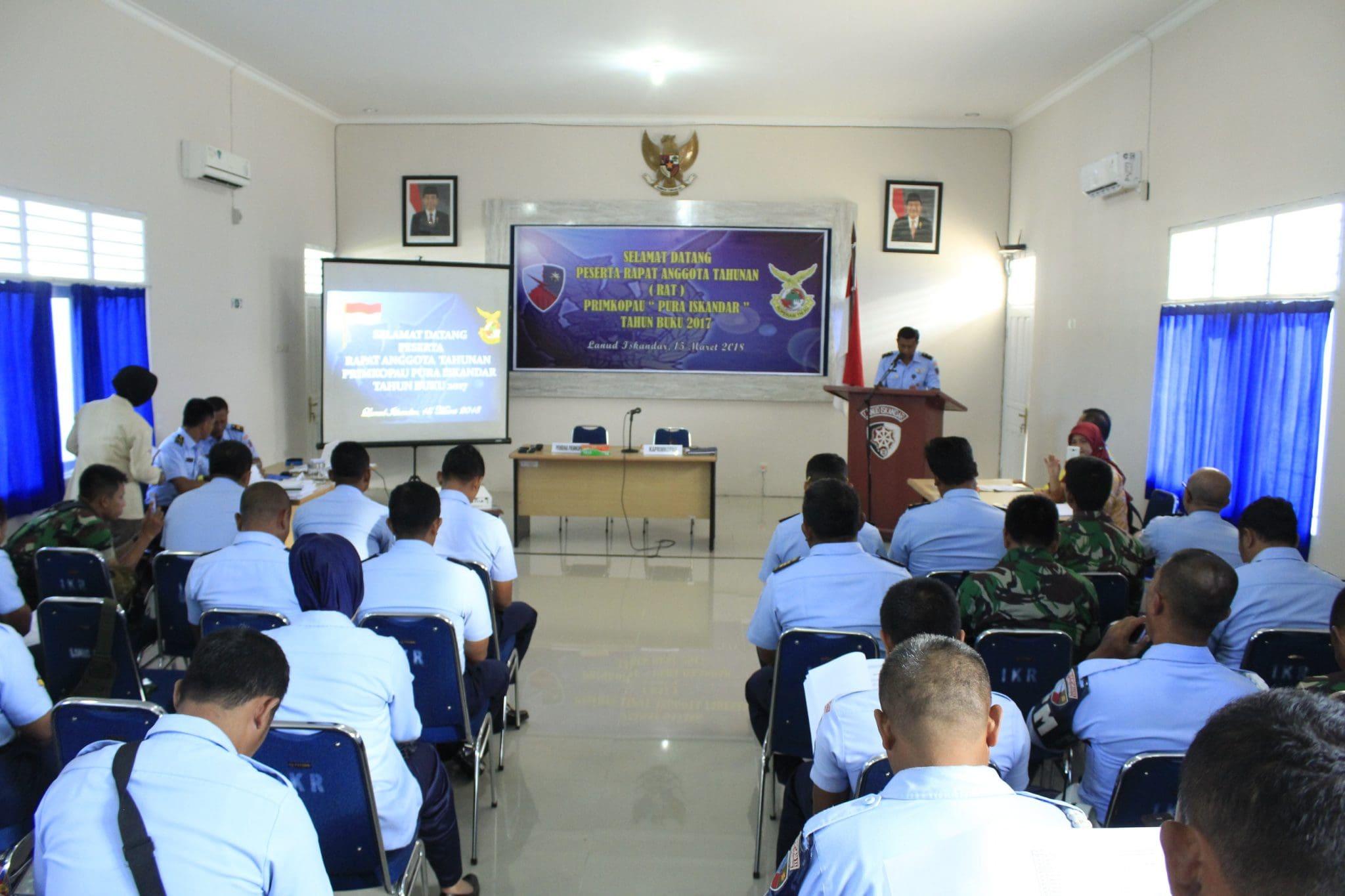 Primkopau Pura Iskandar Lanud Iskandar Adakan RAT Tutup Buku 2017