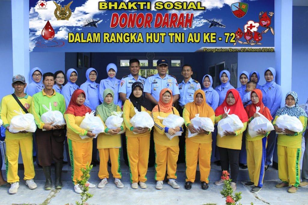 Sambut HUT TNI AU Ke-72 Lanud Iskandar Adakan Bakti Sosial Dan Donor Darah