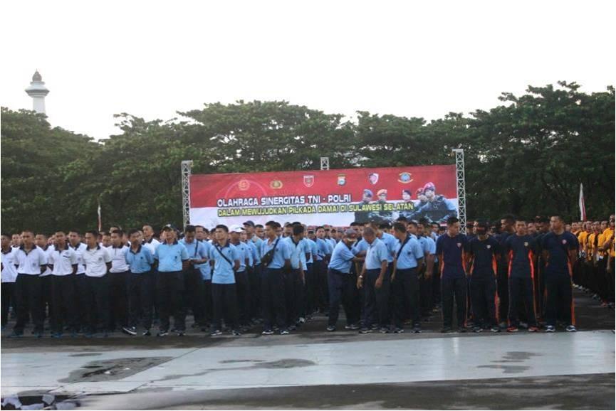 Jalin Sinergitas, Jajaran Wing II Paskhas Makassar Ikuti Olahraga Bersama