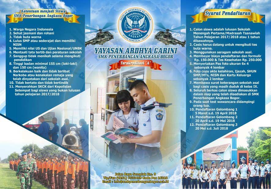 SMK Penerbangan Angkasa Bogor Siap Terima Siswa Baru TP. 2018/2019