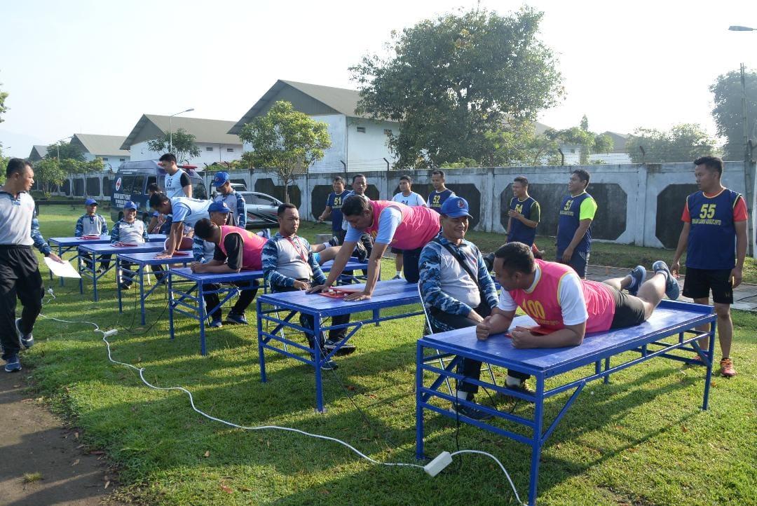 102 Personel Lanud Adisutjipto, Ikuti Tes Samapta Untuk Kenaikan Pangkat
