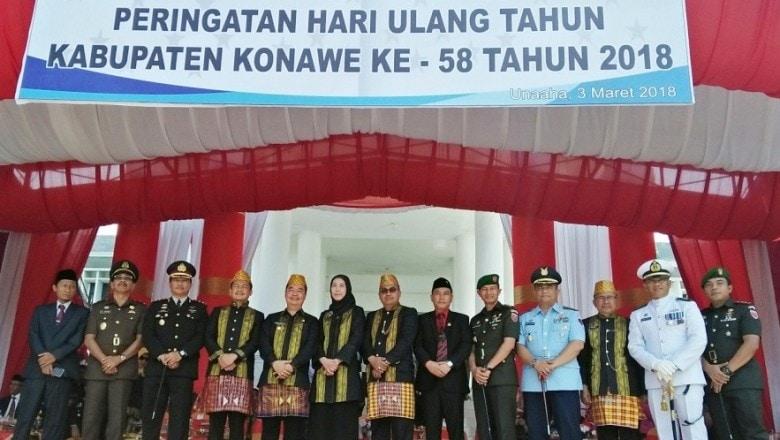 Danlanud Haluoleo Hadiri Upacara Hut Ke-58 Kabupaten Konawe