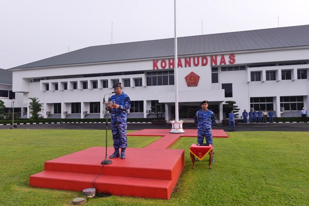 Markas Kohanudnas Gelar Upacara Bendera 17-an Bulan Maret 2018