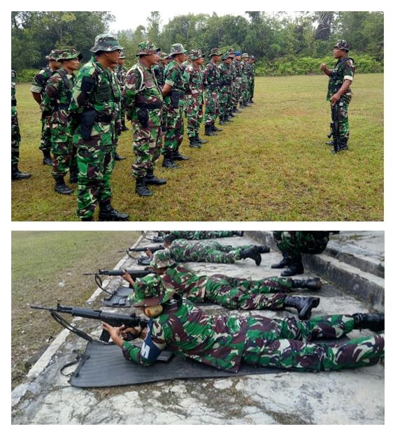 Untuk Meningkatkan Kemampuan Seorang Prajurit Lanud Iskandar Laksanakan Latihan Menembak