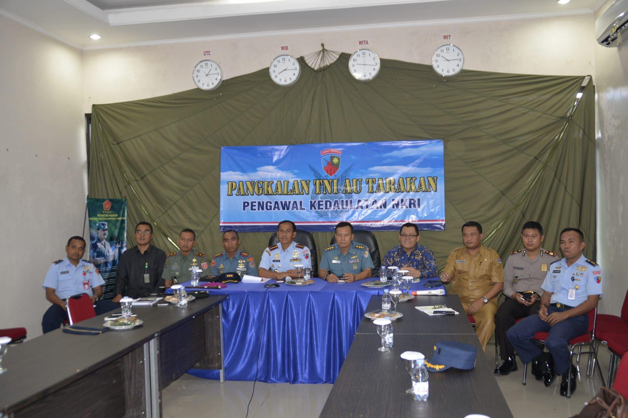 PANGLIMA TNI VIDEO CONFERENCE DENGAN LANUD TARAKAN