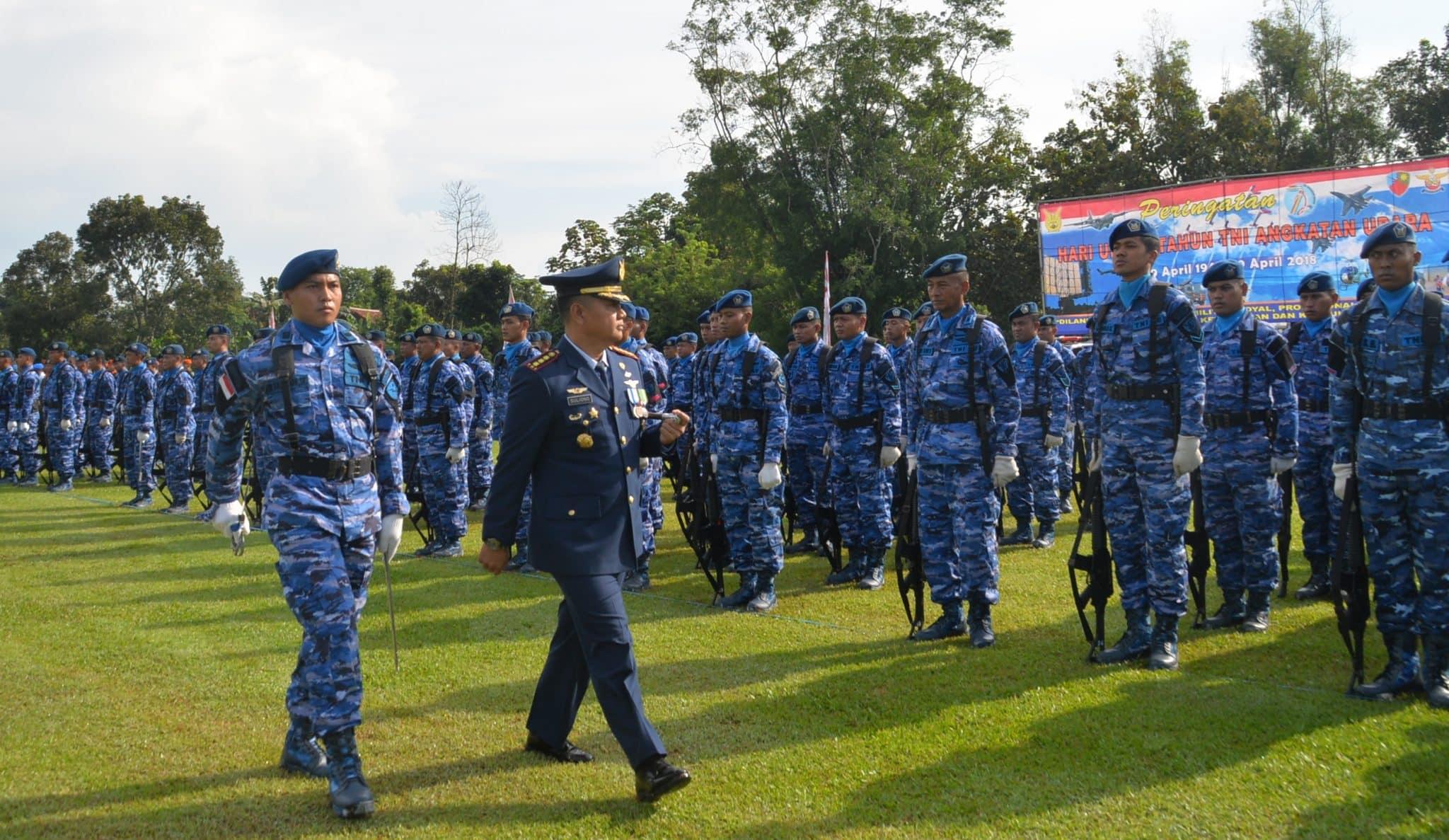 Upacara Peringatan Ke-72 Hari Jadi TNI AU di Lanud Suryadarma