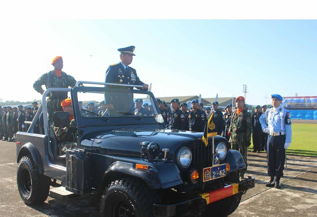 Yonko 466 Paskhas Memperingati HUT TNI Angkatan Udara Ke-72