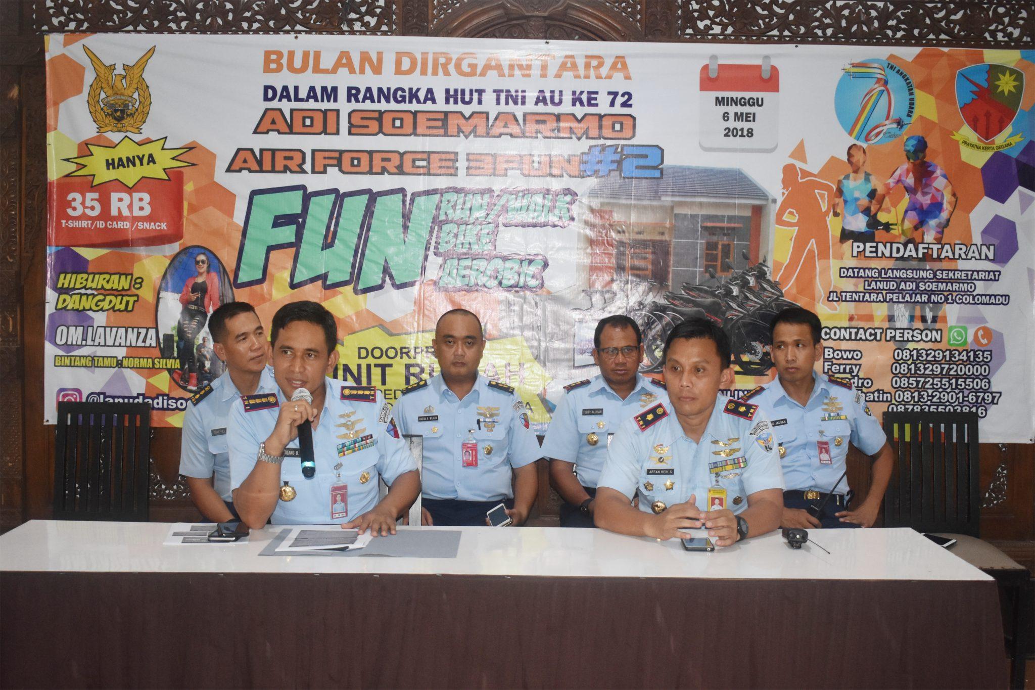 Peringati Ke-72 Hut TNI AU, Lanud Adi Soemarmo Gelar Air Force 3 Fun