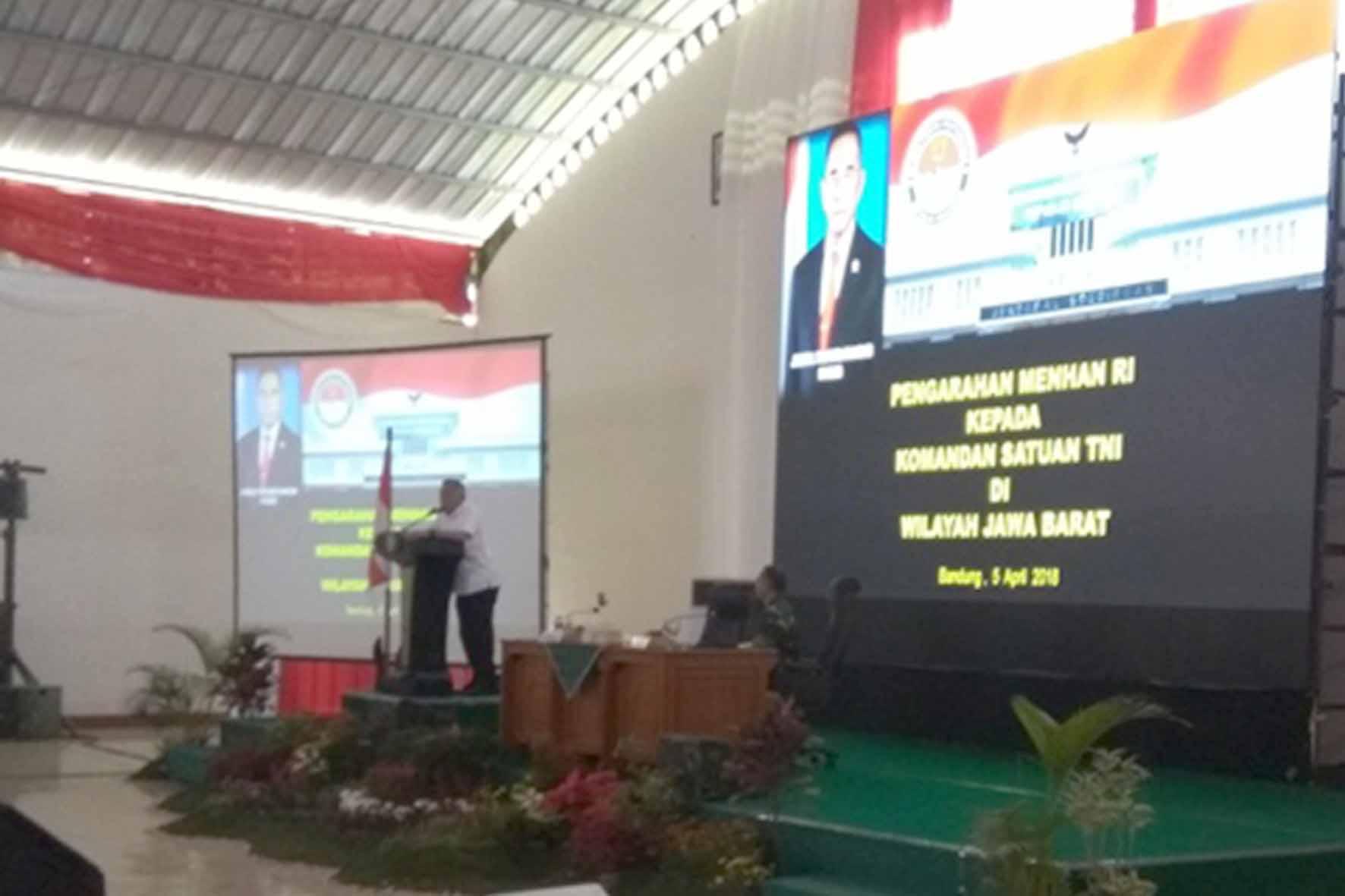 Prajurit Korpaskhas Ikuti Pengarahan Menhan RI di Bandung