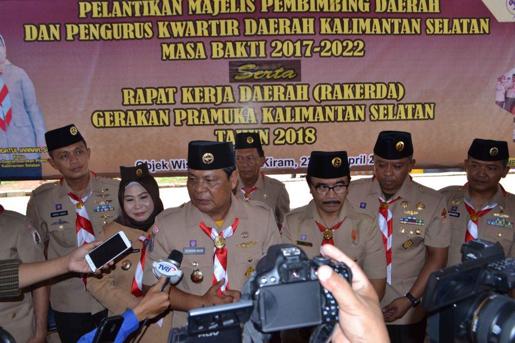 Komandan Lanud Sjamsudin Noor Hadiri Pelantikan Majelis Pembimbing Daerah dan Pengurus Kwartir Daerah Gerakan Pramuka Kalimantan Selatan