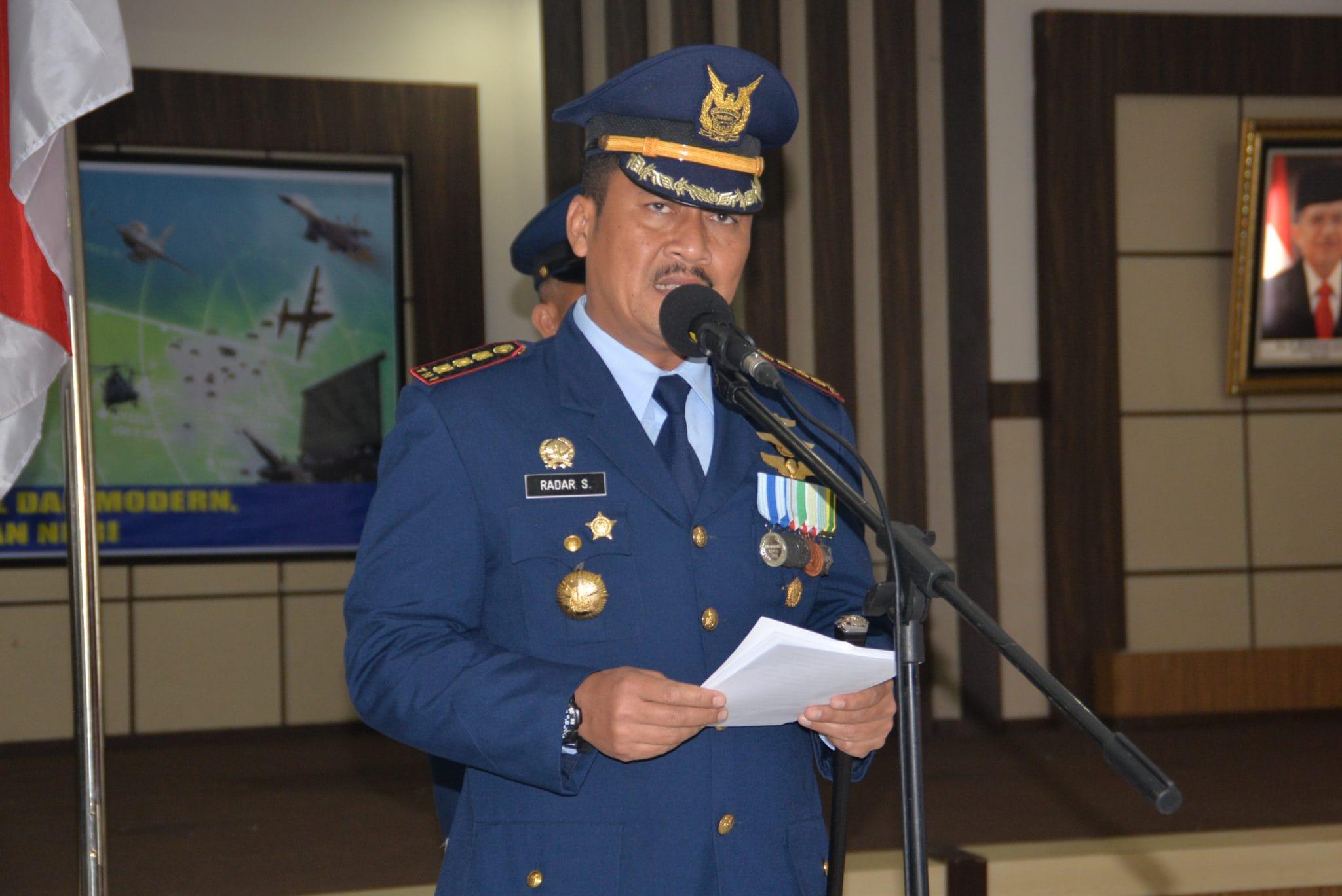 Upacara Peringatan HUT ke-72 TNI AU di Lanud Rsn