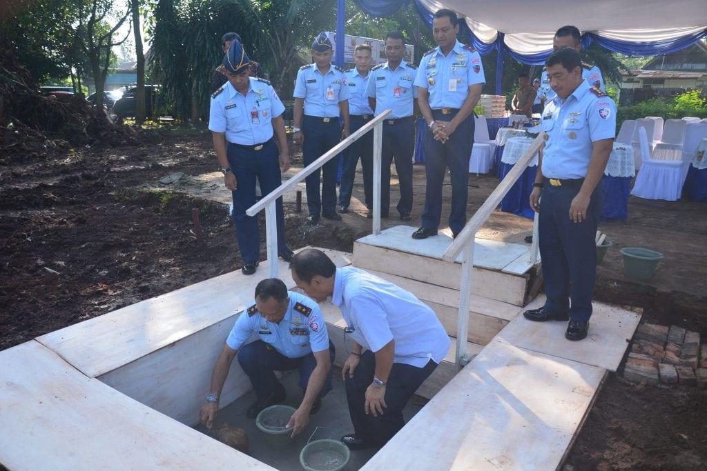Peletakan Batu Pertama Mess Perwakilan Koopsau II Di Lanud Halim Perdanakusuma
