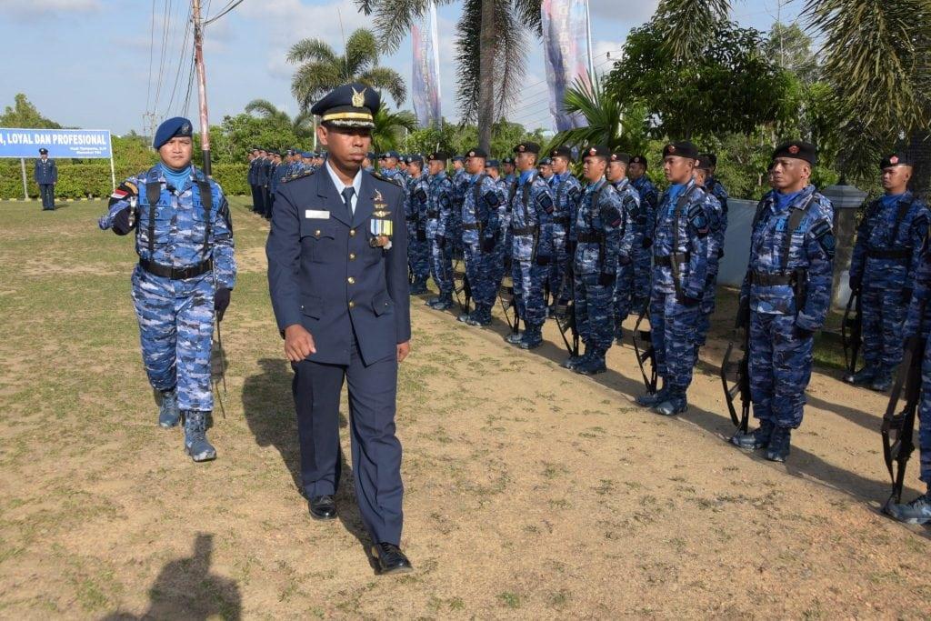 Lanud RHF Gelar Upacara HUT Ke-72 TNI AU Secara Sederhana