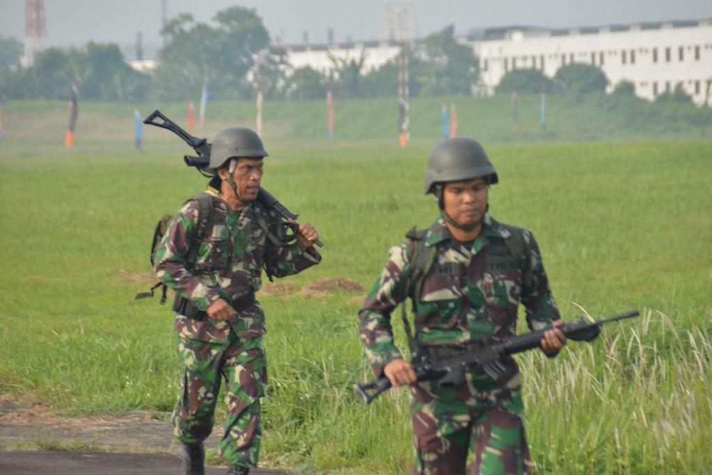 Personel Militer Lanud Soewondo Laksanakan Latihan Cross Country