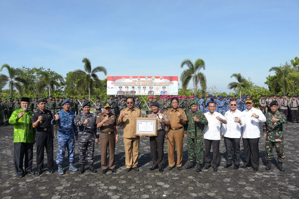 Upacara Gabungan TNI Polri dan Pemerintah Daerah Kepri 17 April2018