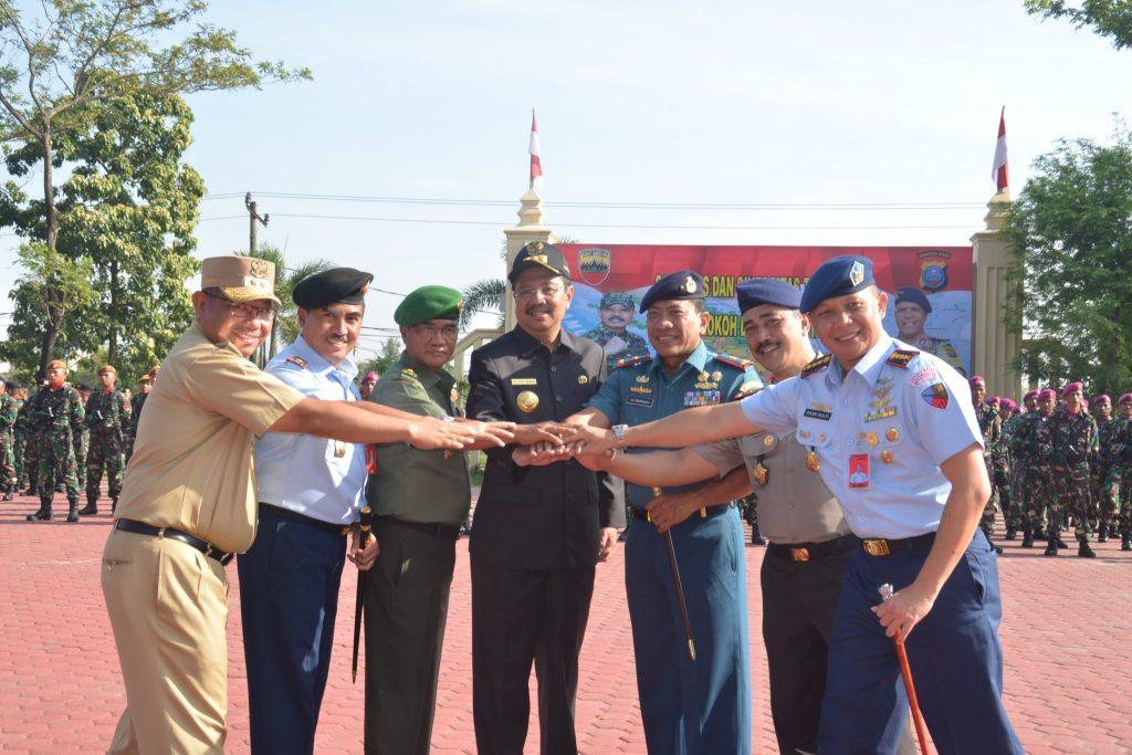 Danlanud Soewondo Mengikuti Upacara Bendera 17an Gabungan TNI-Polri dan Pemda Sumut