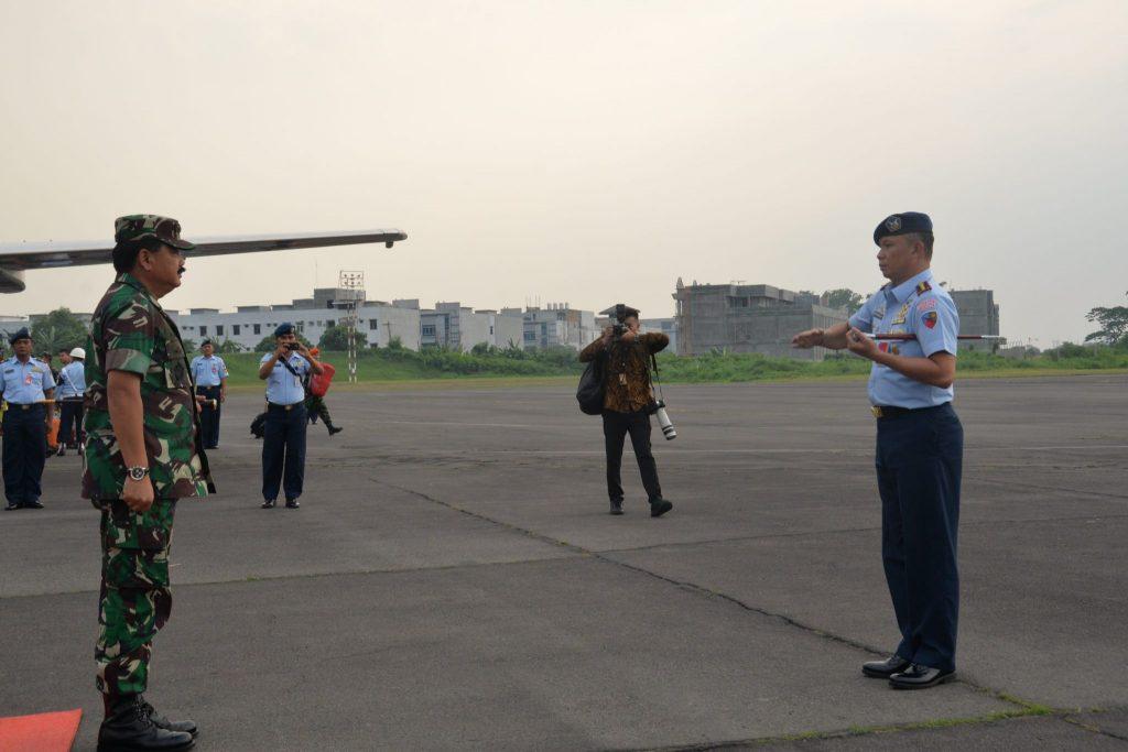 Danlanud Soewondo Sambut Kedatangan Panglima TNI dan Kapolri