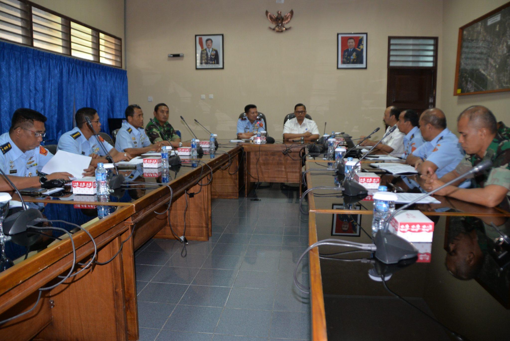 Kosekhanudnas IV Dan Matsc Bahas Kerjasama Sipil Militer Dalam Pengelolaan Sistem Keamanan Wilayah Udara Dan Penerbangan Wilayah Kosekhanudnas IV