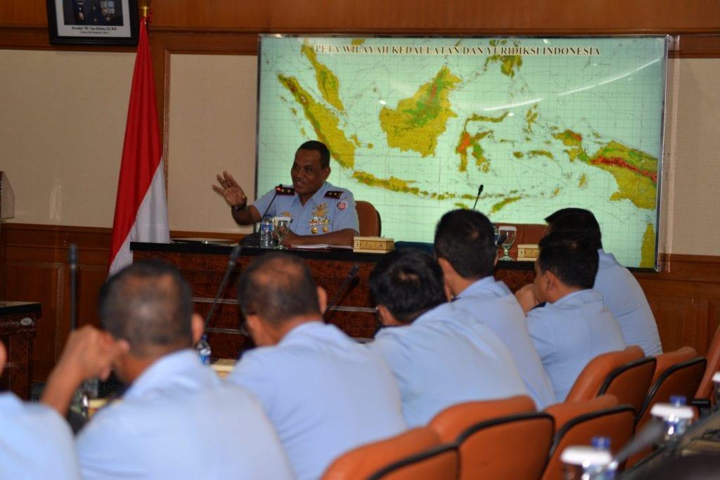 Pangkoopsau I Pimpin Rapat Evaluasi Jajaran Koopsau I