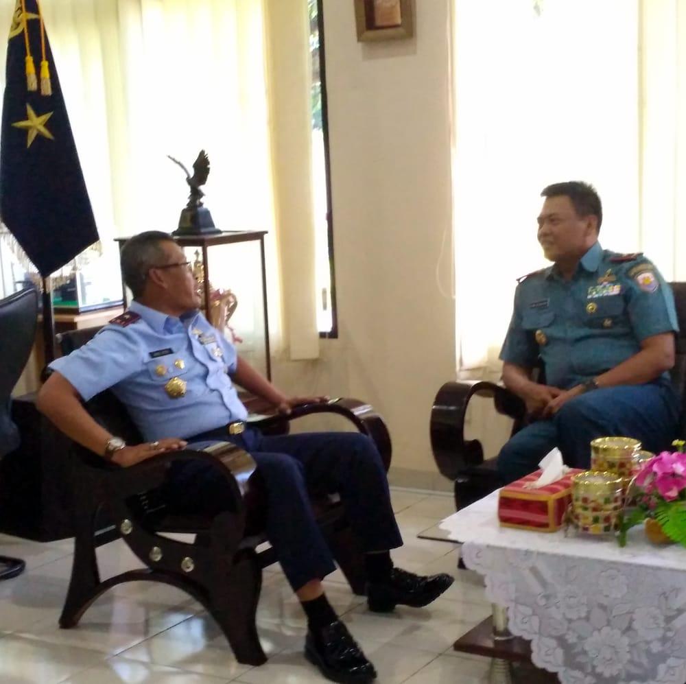 Danlantamal VI Makassar Kunjungan Kehormatan Ke Kosekhanudnas II