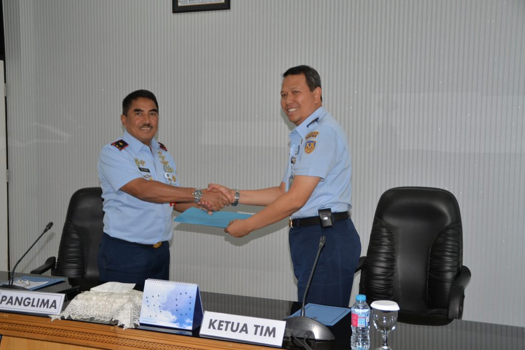 Exit Briefing Irjen TNI AU di Kosekhanudnas III