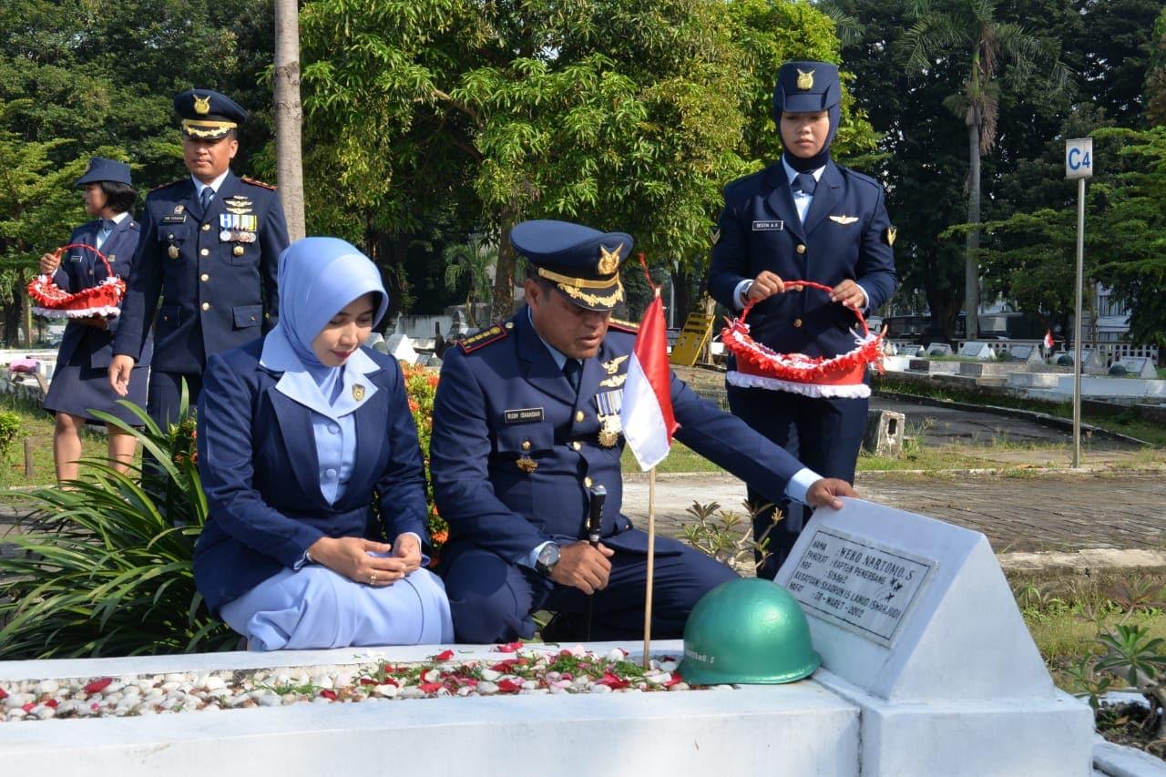 Ziarah Rombongan Dalam Rangka HUT TNI AU Ke-72 Lanud Surabaya
