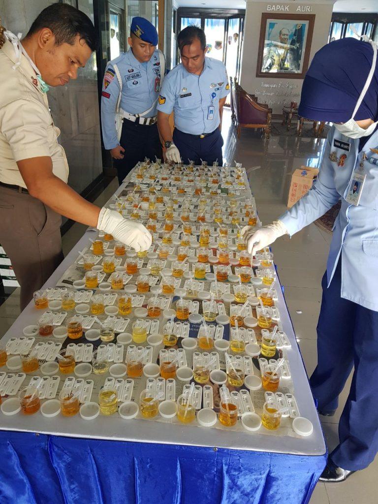 Antisipasi Narkoba, Koopsau I Adakan Tes Urine