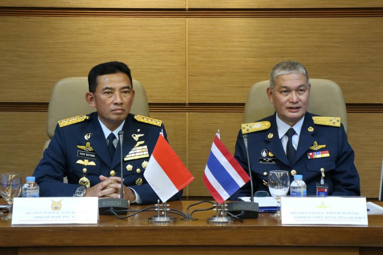 Hadiri Presentasi Network Centric Warfare RTAF, Kasau Berharap TNI AU Makin Maju