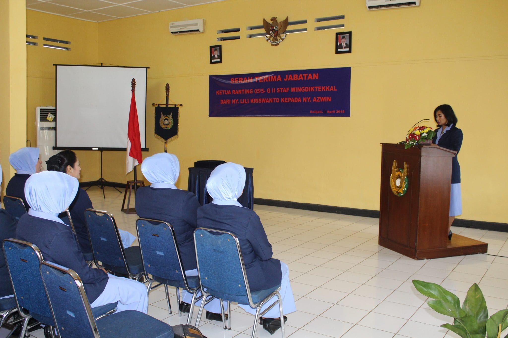Ny. Nining Suryadi Pimpin Sertijab Ketua PIA AG Wingdiktekkal Kalijati
