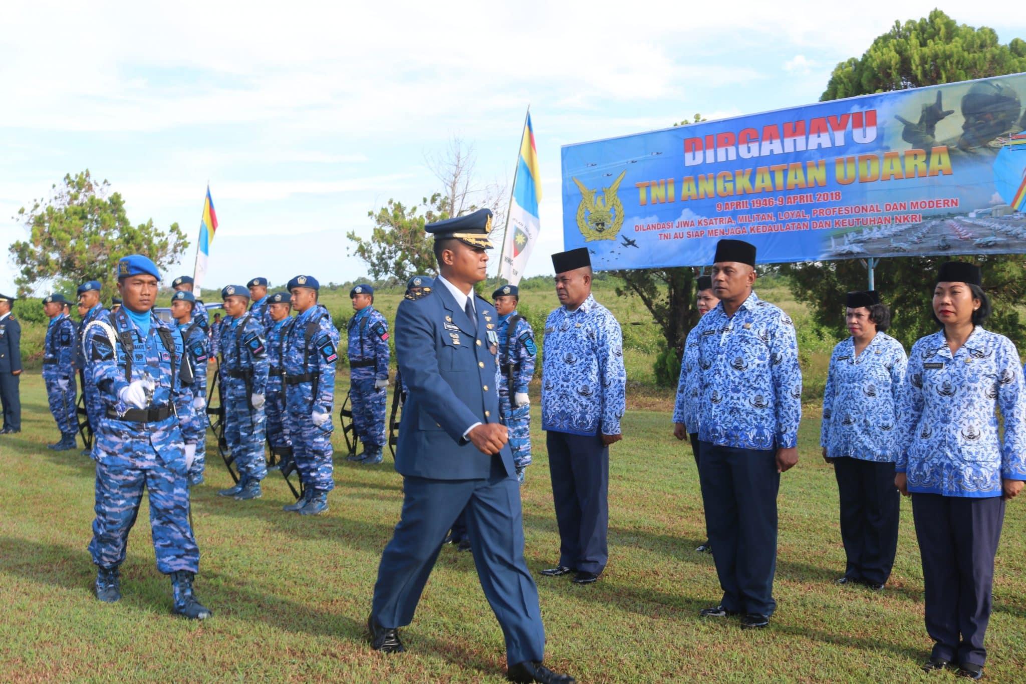 Rangkaian Kegiatan Hut TNI AU Ke-72 di Lanud Dominicus Dumatubun
