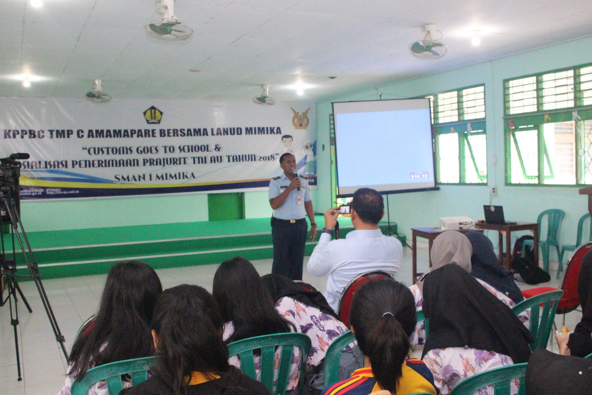 Lanud Timika Sosalisasi Penerimaan Prajurit TNI AU Tahun 2018