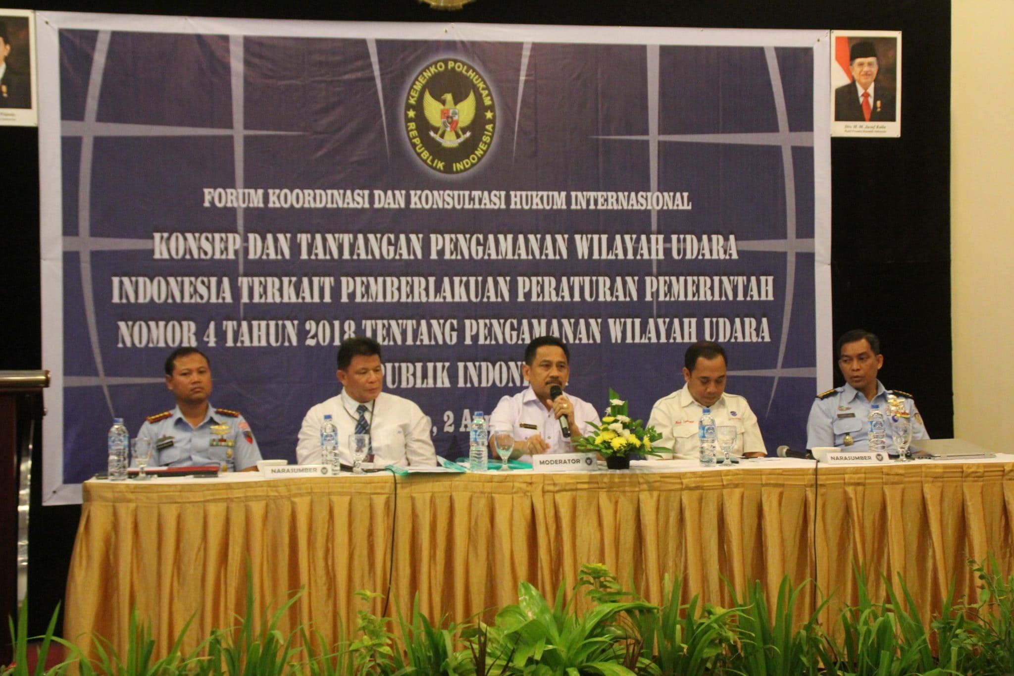 Komandan Lanud Sam Ratulangi Manado Sebagai Narasumber Acara FKK Hukum Internasional